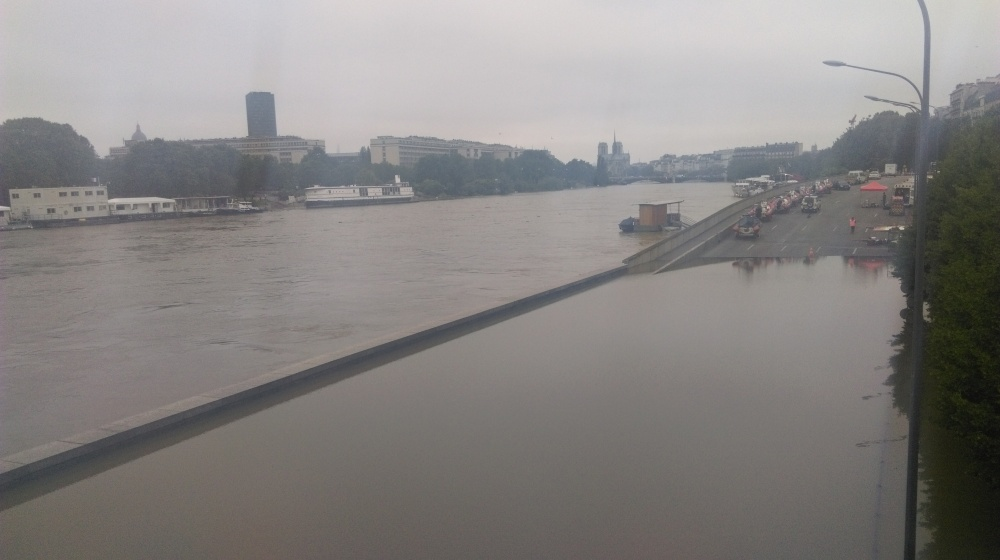 Notre Dame depuis le pont d'Austerlitz